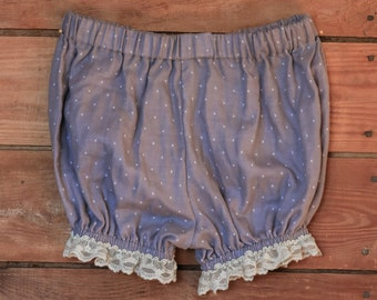 Little Girl's Organic Cotton Bloomers -- Size 2t, 4t, 6