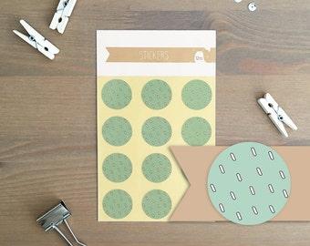 Stickers 12 pieces / Raindrops (2 cm round)