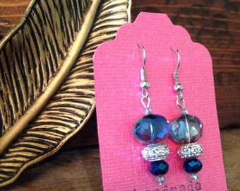 Blue and Silver Dangles