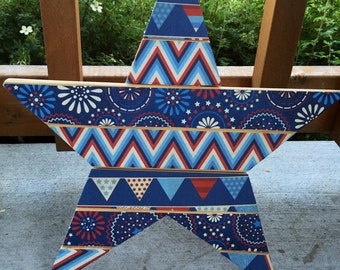 Red, White, and Blue festive hanging star