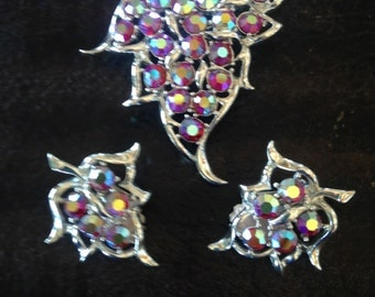 Vintage Sarah Coventry Broach and Earrings