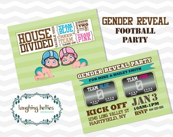 Football Gender Reveal Party Invitation