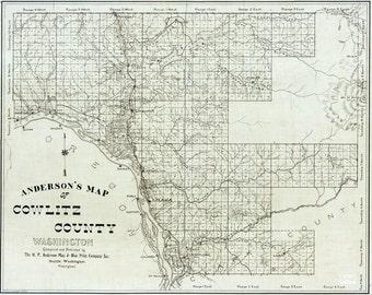 1897 Map of Cowlitz County Washington