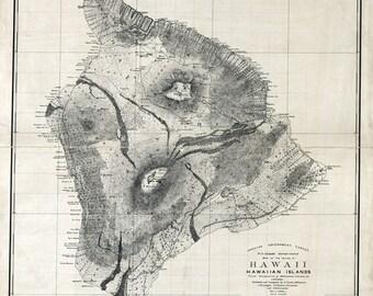 1886 Map of Hawaii