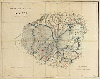 1903 Map of Kauai Hawaii