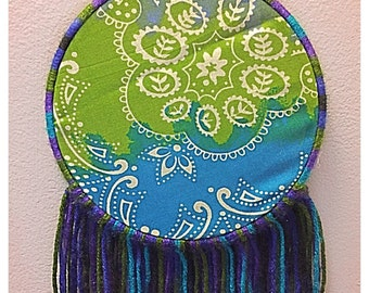 Handmade tie dye dream catcher