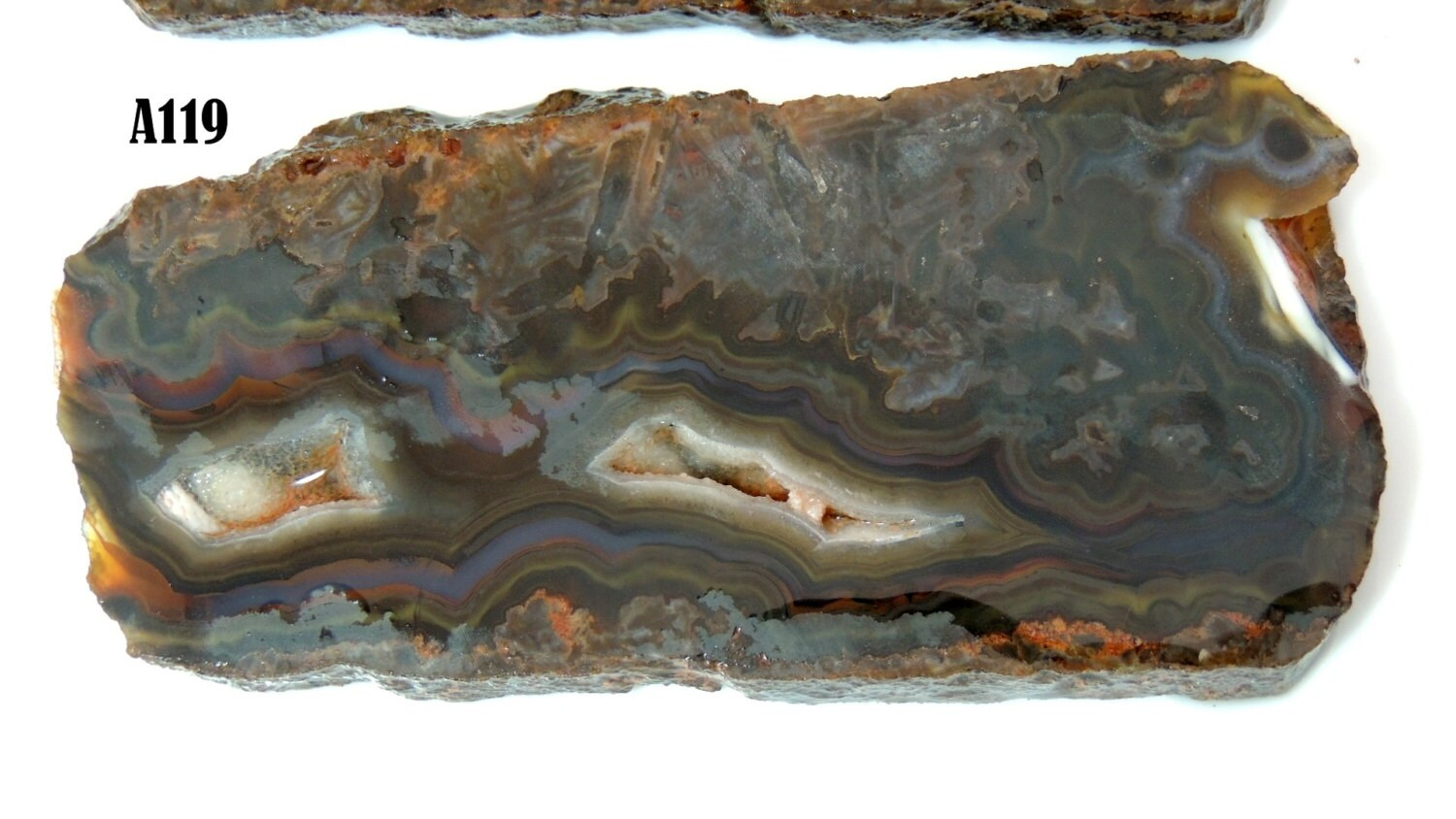 Turkish Agate Slab A119 Druzy 74 Grams Grade A Lapidary
