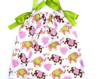 Elephant Pillowcase Dress Handmade