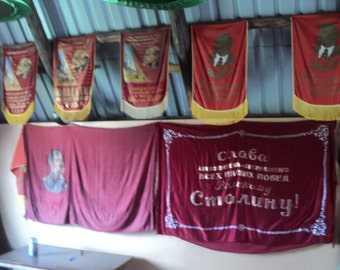 A collection of flags, pennants, rarities of the USSR