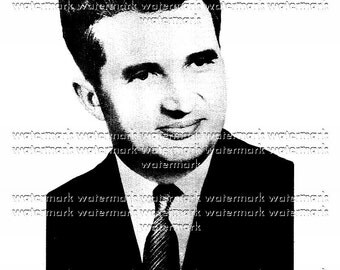 Printable - Nicolae Ceausescu - young - 1965