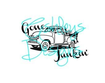 Gone Junkin' Chevy Truck SVG File
