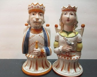 KING AND QUEEN Royal Figurines Chess Pieces