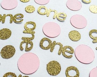 Custom Glitter Confetti • Birthday Confetti • One Confetti • Pink Confetti • Age Confetti • Name Confetti • Baby Shower Confetti