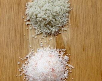 Premium Artisan Salts - Suitable for Salt Water Therapies - Original Celtic Grey Salt, Himalayan Pink Salt Crystals and Dead Sea Salt