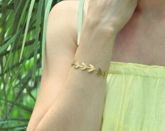 Tropical jewelry Jewelry sets Nature bracelet Leaves bracelet Nature earrings Hoop earrings Summer bracelet Summer earrings Boho jewelry