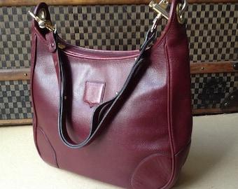 Bag Céline vintage leather Burgundy