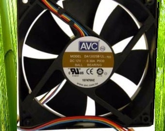 AVC 120mm 12V 0.3A 4Pin Speed Control ball bearing fan DA12025B12L