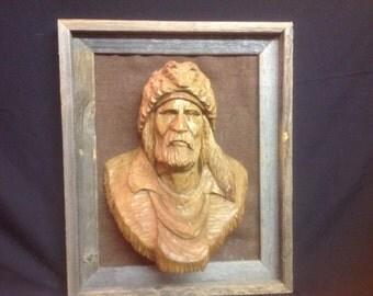 Mountain Man in butternut wood