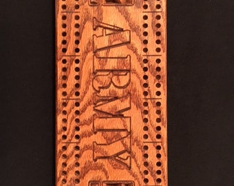 Army cribbage board