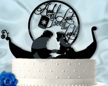 Rapunzel and Flynn At Last I see The Light Tangled Inspired Wedding Cake Topper