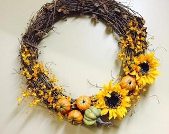 Fall Decorative Wreath
