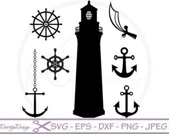 Pirate Clipart, Vector files SVG for Cricut, Silhouette pirates nautical, svg files Nautical, Vector cutting files svg, DXF files