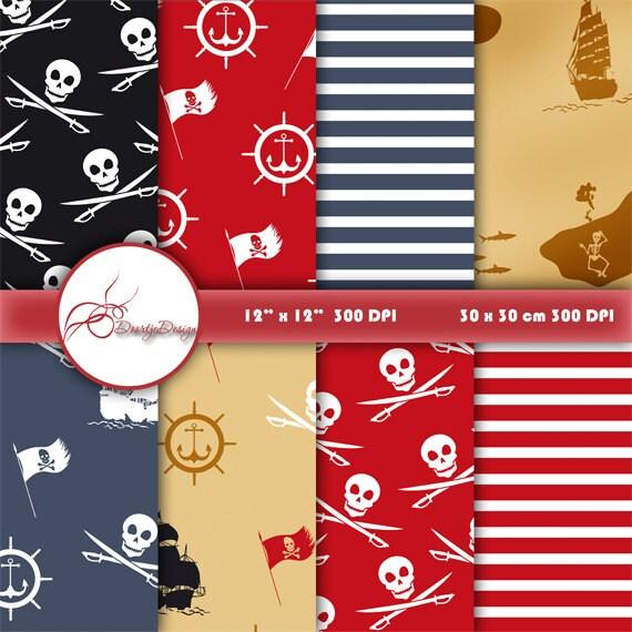 Pirate scrapbook paper