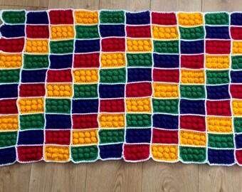Lego Style Handmade crochet blanket