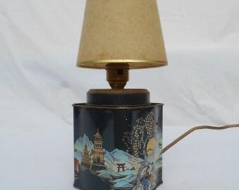 Japanese Tin Lamp