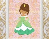 Digital Print Fairy-tale Princess Art for Girls boys room or playroom printable
