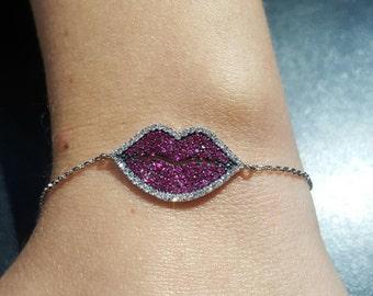 Yummy Lips Bracelet