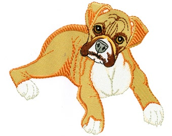 BOXER PUPPY - Machine Embroidery Design - dog pet