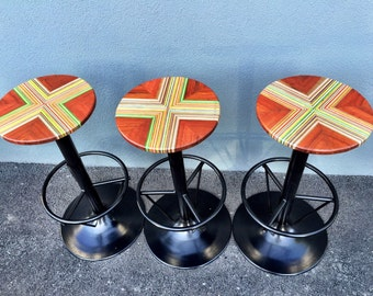 Recycled Skateboards Bar Stools