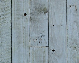 Reclaimed timber light blue food photography board
