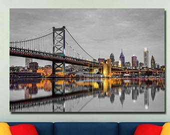 Philadelphia Touch of Color Skylines Canvas