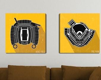 Pittsburgh Stadium Canvas Print Set