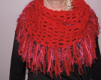 Red Wool Cowl