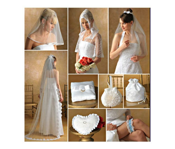 Items Similar To BRIDAL WEDDING ACCESSORIES Sewing Pattern