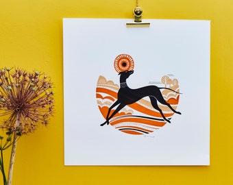 Oh, Happy Grey - Limited Silkscreen Art Print