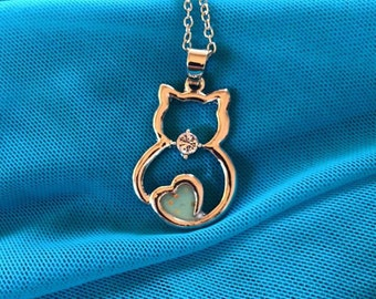 Kitty charm necklace