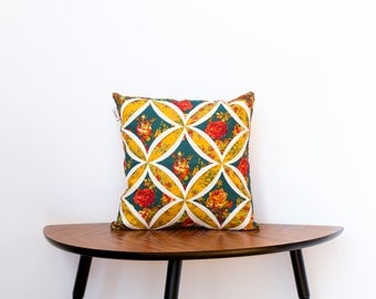 Decorative cushion, cathedral window