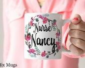 Personalized Nurse Mugs Nurse Cups RN Mugs RN Gifts Nurse Gifts Personalized Nurse Gifts Nurse Appreciation Gifts Nursing Student Gifts N3