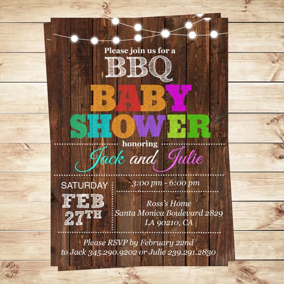 couples bbq baby shower invitation bbq baby shower invitations