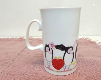 """Rare """"Love Birds"""" Fine Bone China Mug"""