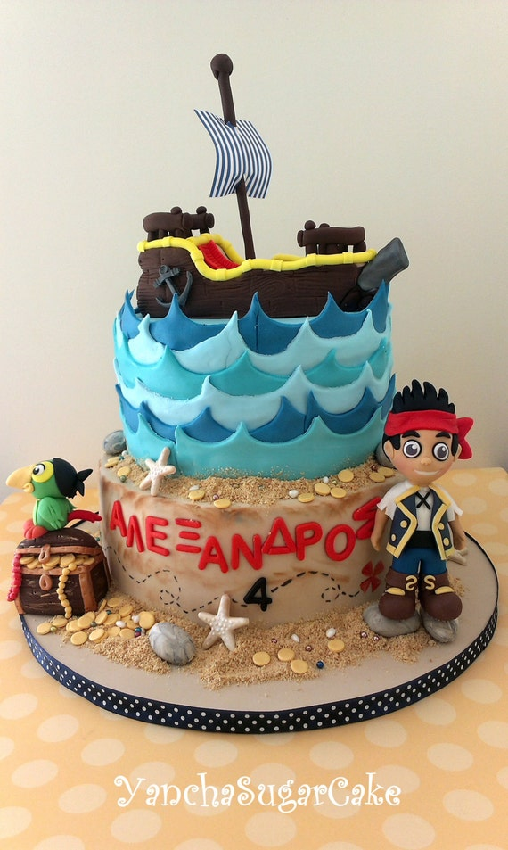 Edible fondant 3D figure cake topper Jake and the neverland
