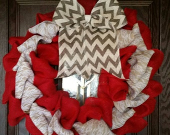 Ribbons and Lace Wreath