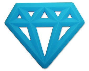 Silicone Diamond Teething Toy Teether