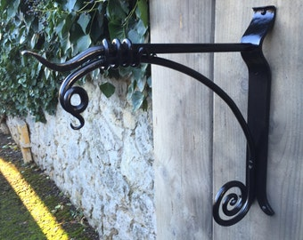 Garden Hanging Basket Bracket - Hand Forged