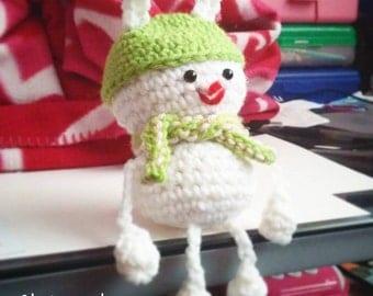 Snowman Rabbit Amigurumi (Custom Made)