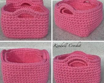 Crochet Baskets (2) Square